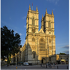 Westminster Abbey in der Abendsonne